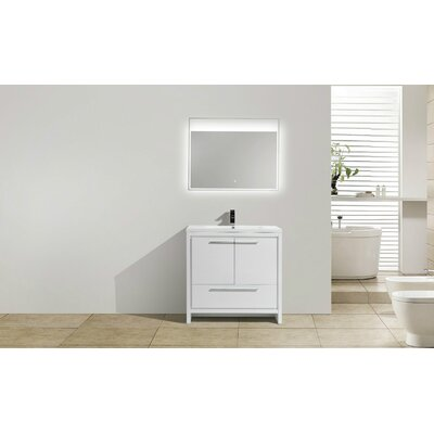 Melillo 29.5 Free Standing Modern Bathroom Vanity Base Finish: High Gloss White