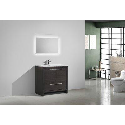 Melillo 29.5 Free Standing Modern Wood Bathroom Vanity Base Finish: Dary Grey Oak