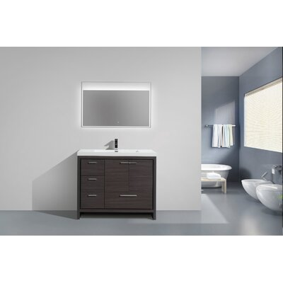 Melillo 41 Free Standing Modern Single Bathroom Vanity Base Finish: Dary Grey Oak