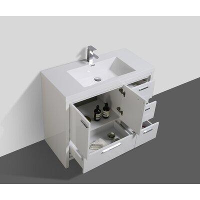 Melillo 41 Free Standing Modern Bathroom Vanity Base Finish: High Gloss White
