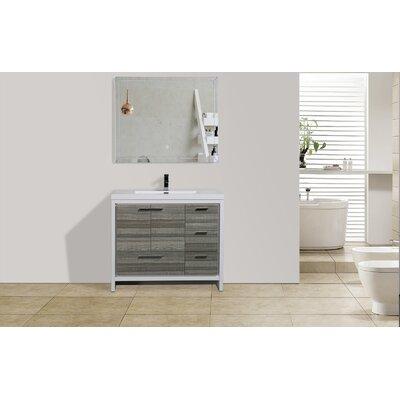 Melillo 41 Free Standing Modern Bathroom Vanity Base Finish: Dary Grey Oak