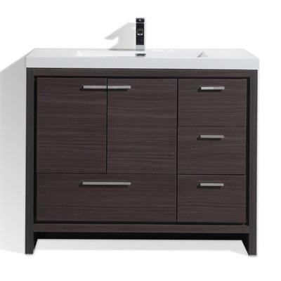 Melillo 41 Free Standing Modern Bathroom Vanity Base Finish: High Gloss Ash Gray