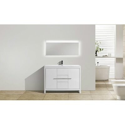 Melillo 47 Free Standing Modern Bathroom Vanity Base Finish: High Gloss White
