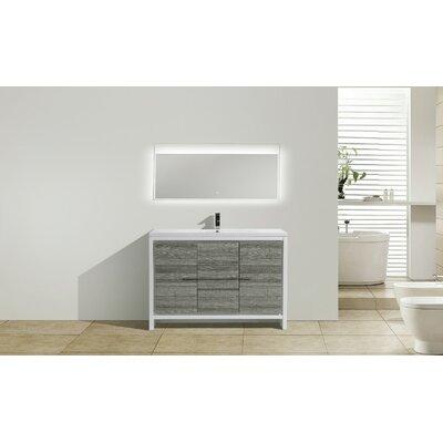 Melillo 47 Free Standing Modern Bathroom Vanity Base Finish: High Gloss Ash Gray