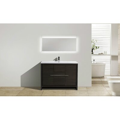 Melillo 47 Free Standing Modern Bathroom Vanity Base Finish: Dary Grey Oak