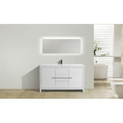 Melillo 59 Free Standing Modern Single Bathroom Vanity Base Finish: High Gloss White