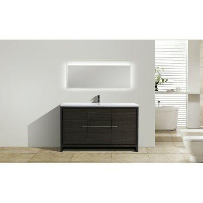 Melillo 59 Free Standing Modern Single Bathroom Vanity Base Finish: Dary Grey Oak