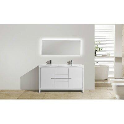 Melillo 59 Free Standing Modern Bathroom Vanity Base Finish: High Gloss White