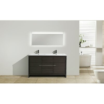 Melillo 59 Free Standing Modern Bathroom Vanity Base Finish: Dary Grey Oak