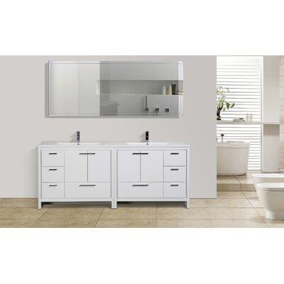Dollinger 83 Free Standing Modern Bathroom Vanity Base Finish: High Gloss White