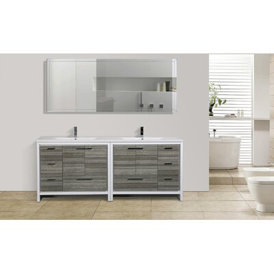 Dollinger 83 Free Standing Modern Bathroom Vanity Base Finish: High Gloss Ash Gray
