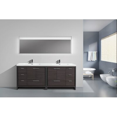 Roselle 83 Free Standing Modern Bathroom Vanity Base Finish: Dary Grey Oak