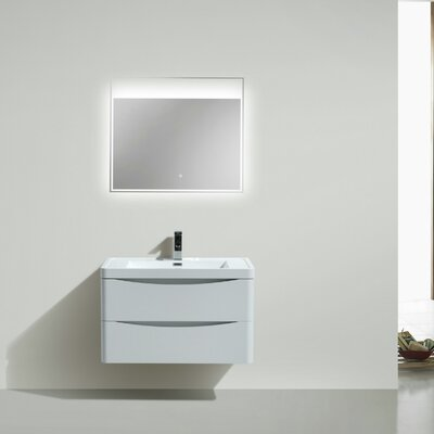 Smile 24 Single Bathroom Vanity Set Base Finish: High Gloss White