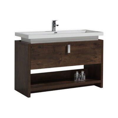 Gaynelle 50 Single Bathroom Vanity Set Base Finish: Rosewood