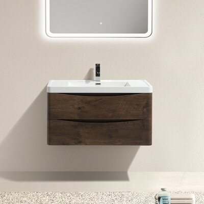 Ruelas 31 Single Bathroom Vanity Set Base Finish: Rosewood