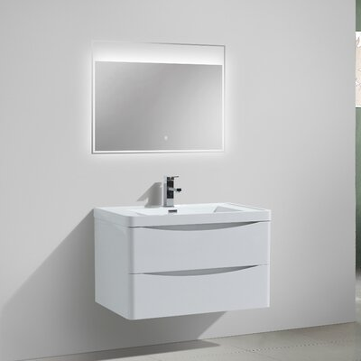 Ruelas 31 Single Bathroom Vanity Set Base Finish: High Gloss White