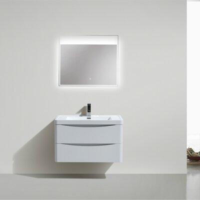 Ruelas 35 Single Bathroom Vanity Set Base Finish: High Gloss White