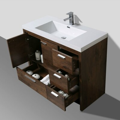 Almendarez Free Standing Modern 41 Rectangular Single Bathroom Vanity Set