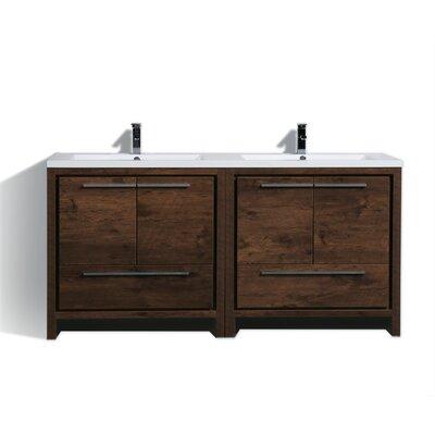 Almendarez Free Standing Modern 71 Double Bathroom Vanity Set