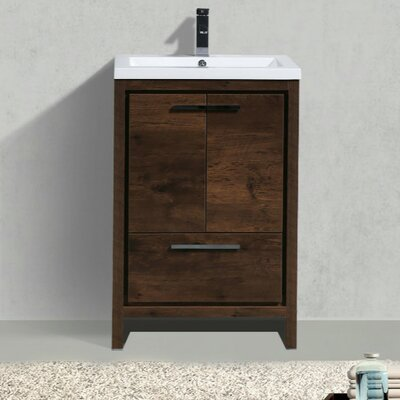 Almendarez Free Standing Modern 24 Single Bathroom Vanity Set