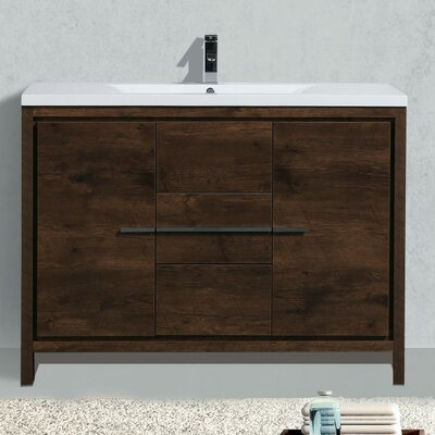 Almendarez Free Standing Modern 47 Single Bathroom Vanity Set
