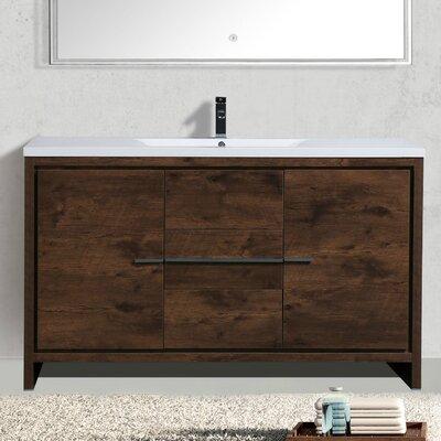 Almendarez Free Standing Modern 59 Single Bathroom Vanity Set