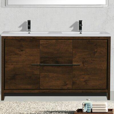 Almendarez Free Standing Modern 59 Double Bathroom Vanity Set