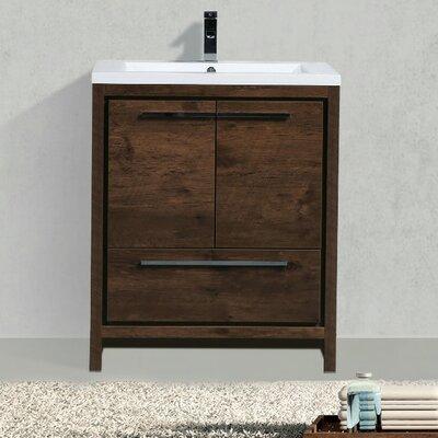 Almendarez Free Standing Modern 30 Single Bathroom Vanity Set