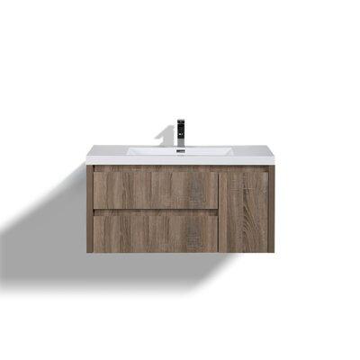 Haenggi 42 Single Bathroom Vanity Set Base Finish: Teak Oak