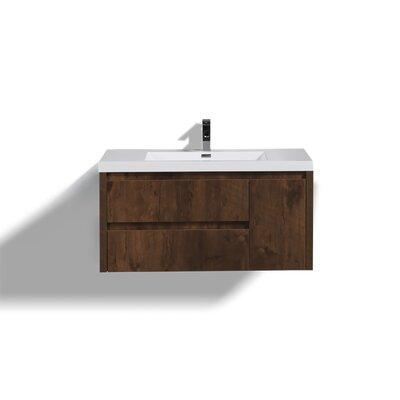 Haenggi 42 Single Bathroom Vanity Set Base Finish: Rosewood
