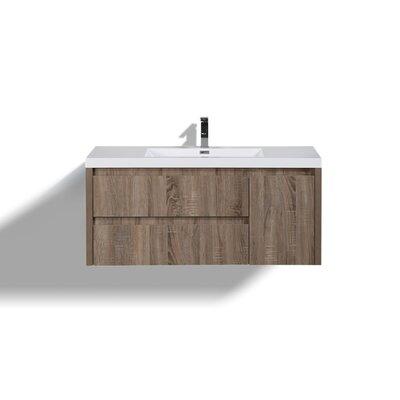 Haenggi 48 Single Bathroom Vanity Set Base Finish: Teak Oak