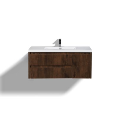 Haenggi 48 Single Bathroom Vanity Set Base Finish: Rosewood