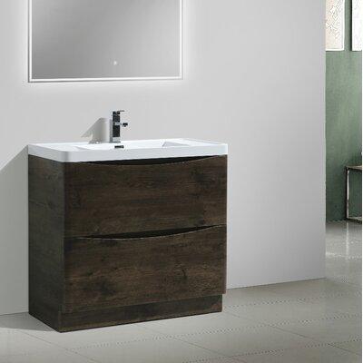 Ruelas Free Standing Modern 36 Single Bathroom Vanity Set Base Finish: Rosewood