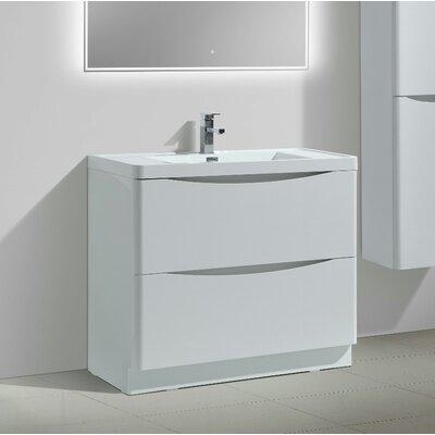 Ruelas Free Standing Modern 40 Single Bathroom Vanity Set Base Finish: White