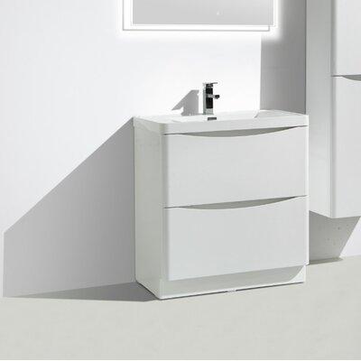 Ruelas Free Standing Modern 36 Single Bathroom Vanity Set Base Finish: White