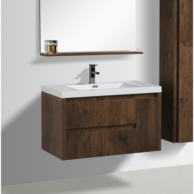 Haenggi 36 Single Bathroom Vanity Set Base Finish: Rosewood