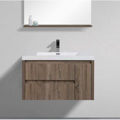 Haenggi 36 Single Bathroom Vanity Set Base Finish: Teak Oak