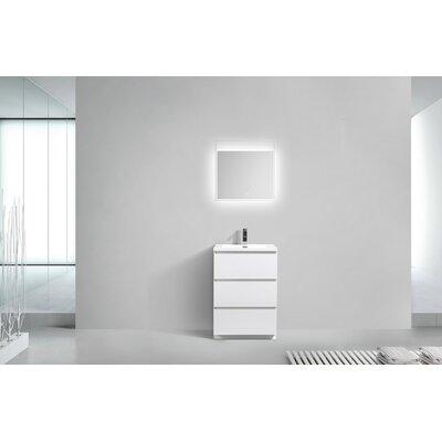 Riker Free Standing 24 Single Bathroom Vanity Set Base Finish: High Gloss White
