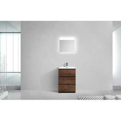 Riker Free Standing 24 Single Bathroom Vanity Set Base Finish: Rosewood