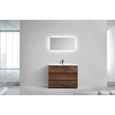 Riker Free Standing 42 Single Bathroom Vanity Set Finish: Rosewood
