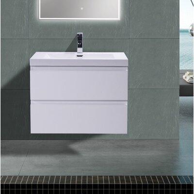 MOB 29 Single Bathroom Vanity Set Base Finish: High Gloss White