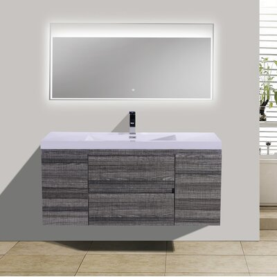 MOB 47 Single Bathroom Vanity Set Base Finish: High Gloss Ash Gray