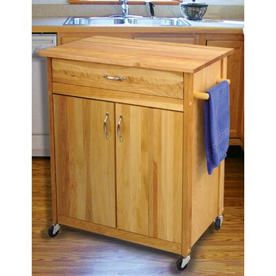 Lease to own Kitchen Cart with Butcher Block Top...