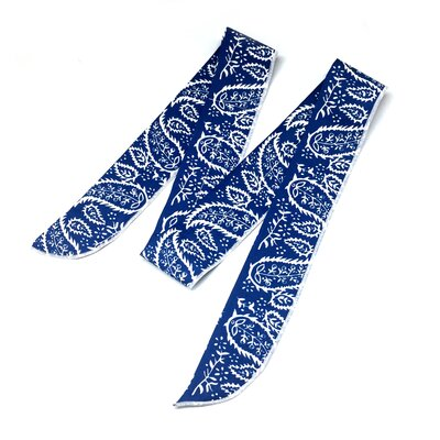 Cooling Tie Fingertip Towel Color: Blue