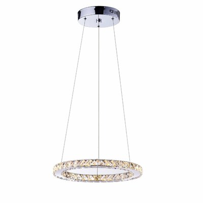 Sharolyn LED Chrome Crystal Pendant
