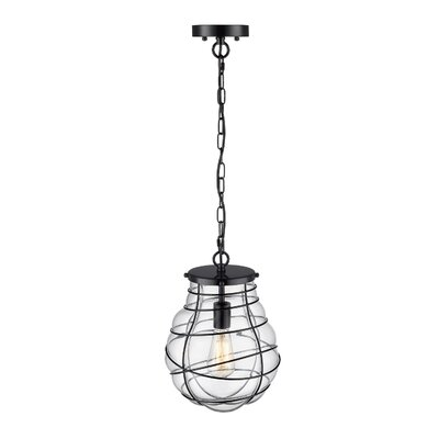 Stangl Industrial Wire and Glass 1-Light Mini Pendant