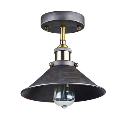 Jaidan Industrial 1-Light Semi Flush Mount