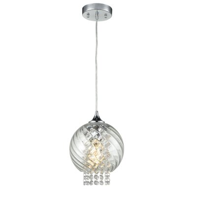 Pacino Glass Crystals Kitchen 1-Light Mini Pendant