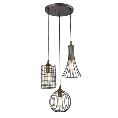 Tarsha 3-Light Geometric Pendant