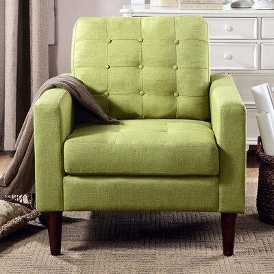 Catarina Arm Chair Upholstery: Green